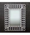 Rectangular mirror wood